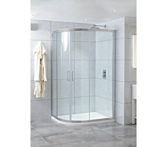 Phoenix Spirit 1400 x 800mm Twin Quadrant Door With LH Tray And Waste