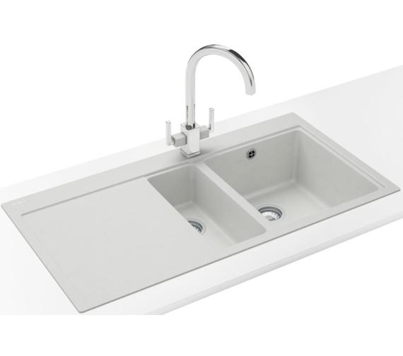 Franke Mythos Sink And Tap Pack : Franke Mythos Designer Pack MTG 651-100 Fragranite Polar White Sink ...