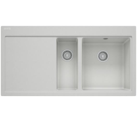 Franke Mythos MTG 651-100 Fragranite Polar White 1.5 Bowl Inset Kitchen Sink