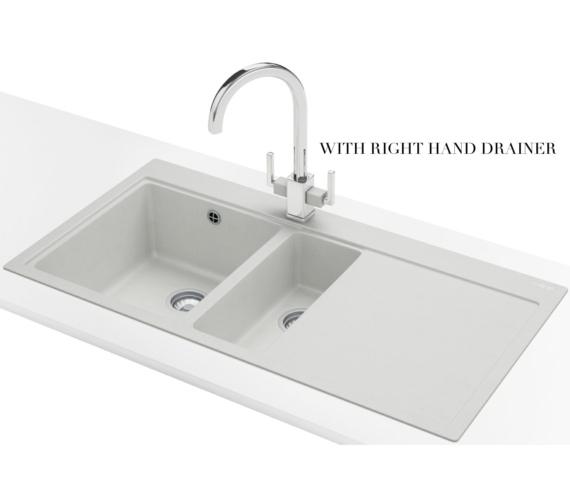 Alternate image of Franke Mythos MTG 651-100 Fragranite Polar White 1.5 Bowl Inset Kitchen Sink