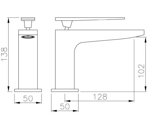 Technical drawing QS-V8551 / AB4080