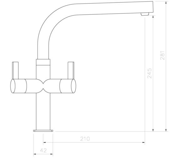 Technical drawing QS-V8694 / AT1237