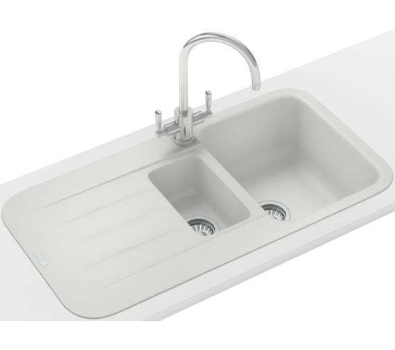 Franke Impact Sink : Franke Pebel Designer Pack PBG 651 Fragranite Polar White Inset Sink ...