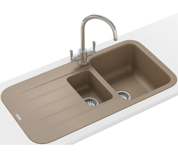 Franke Pebel Designer Pack PBG 651 Fragranite Oyster Inset Sink And Tap