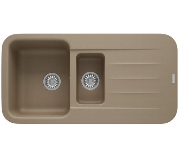 Franke Pebel PBG 651 Fragranite Oyster 1.5 Bowl Inset Kitchen Sink