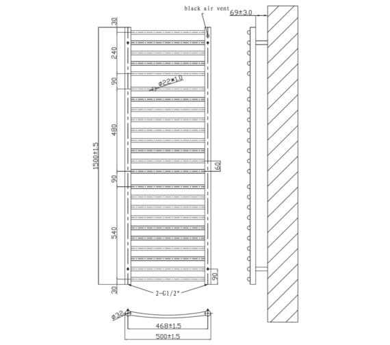 Technical drawing QS-V6586 / RA332