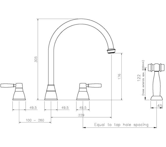 Technical drawing QS-V8686 / AT3049