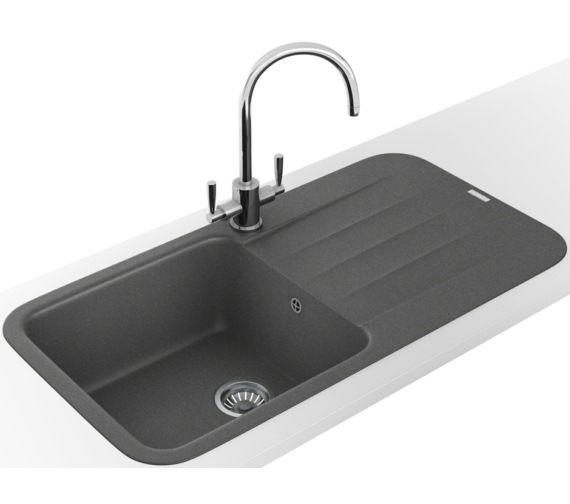 Franke Pebel DP PBG 611-970 Fragranite Stone Grey Inset Sink And Tap