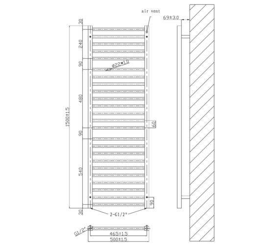 Technical drawing QS-V6592 / RA342