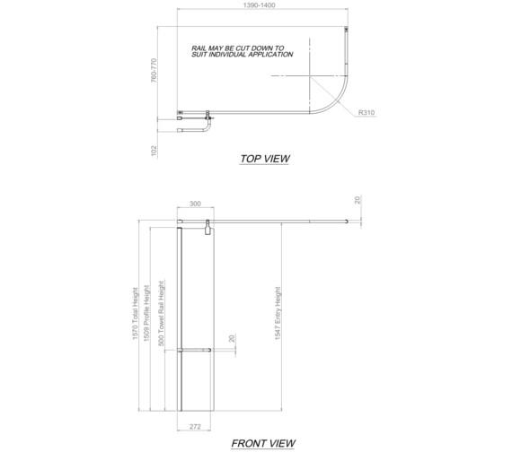 Technical drawing QS-V31260 / 1160078