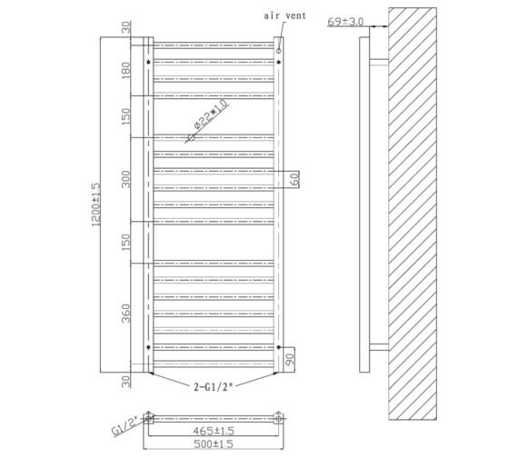 Technical drawing QS-V6591 / RA341