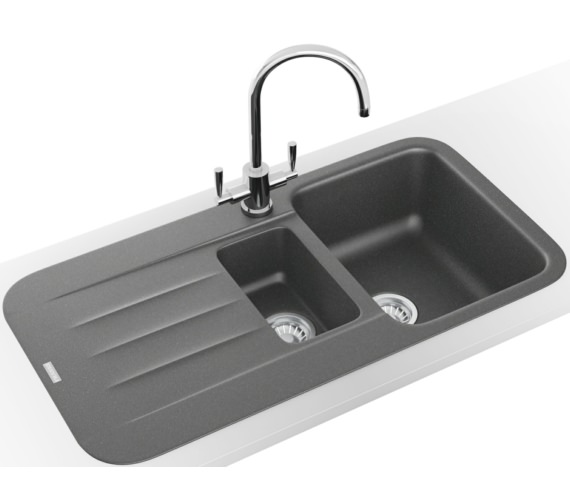 Franke Pebel Designer Pack PBG 651 Fragranite Stone Grey Inset Sink And Tap