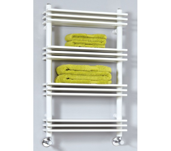 Phoenix Jade 500 x 800mm Designer Pre-Filled Electric Radiator White