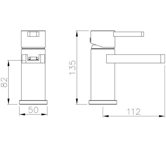 Technical drawing QS-V8558 / AB4091