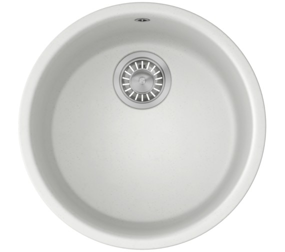 Franke Fragranite Undermount Sink : Franke Rotondo RUG 110 Fragranite Polar White 1.0 Bowl Undermount Sink ...
