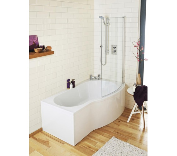 Lauren Right Hand Curved Shower Bath 1500 X 900mm Bmp1585r