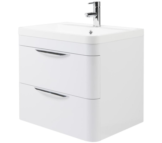 Lauren Parade 600mm 2 Drawer Wall Hung Cabinet And Basin