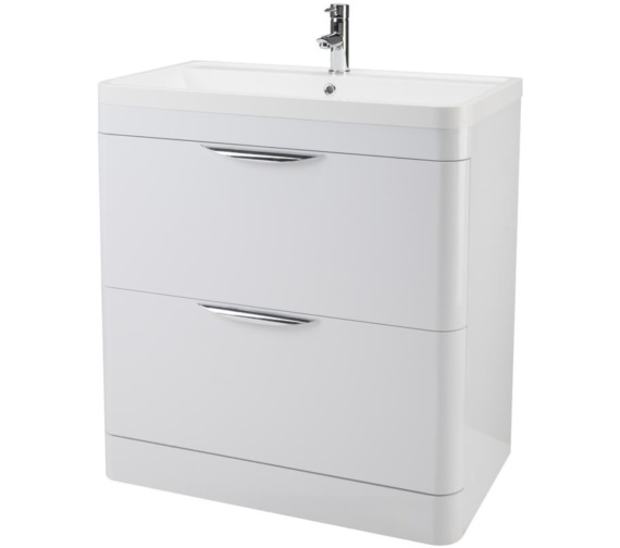 Premier Parade 800mm 2 Drawer Floor Standing Cabinet And Basin