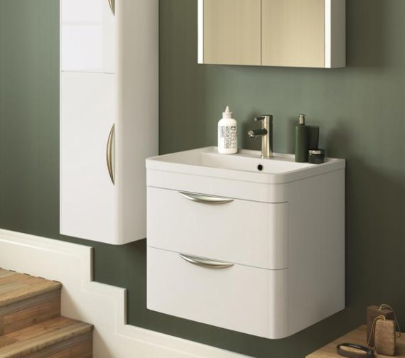 Premier Parade 800mm 2 Drawer Wall Hung Cabinet And Basin