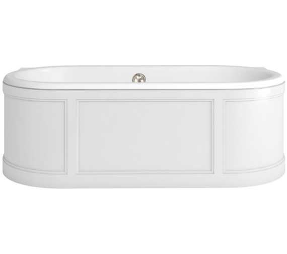 Burlington London 1800 x 850mm Bath With Curved Surround Matt White