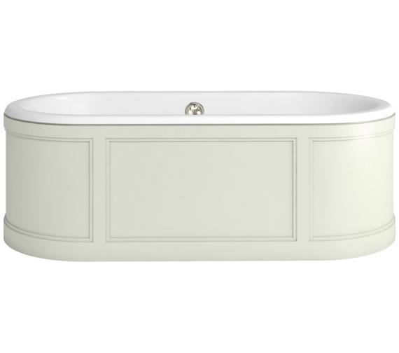 Burlington London 1800 x 850mm Bath With Sand Curved Surround