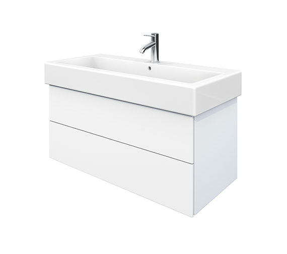 Duravit Delos 2 Drawers White Matt Unit With Vero 1000mm Basin