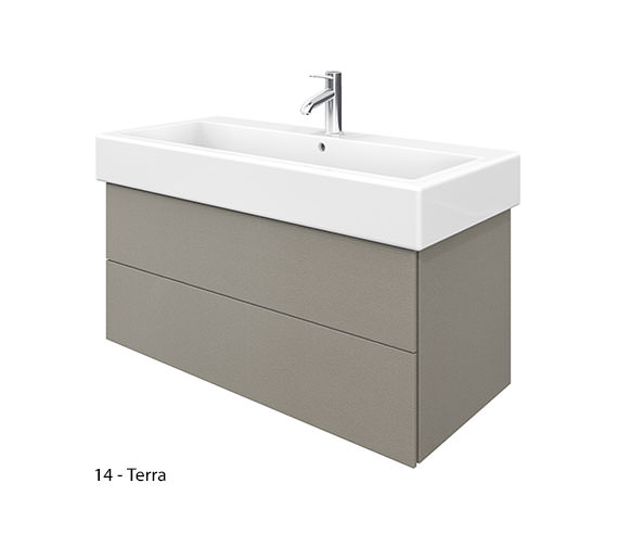 Additional image of Duravit Delos 2 Drawers White Matt Unit With Vero 1000mm Basin
