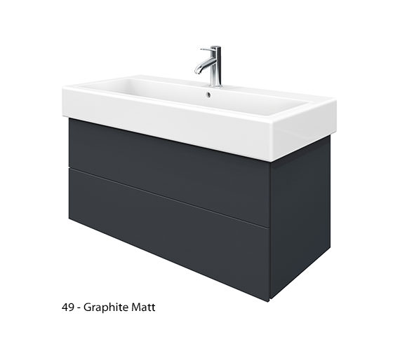 Alternate image of Duravit Delos 2 Drawers White Matt Unit With Vero 1000mm Basin