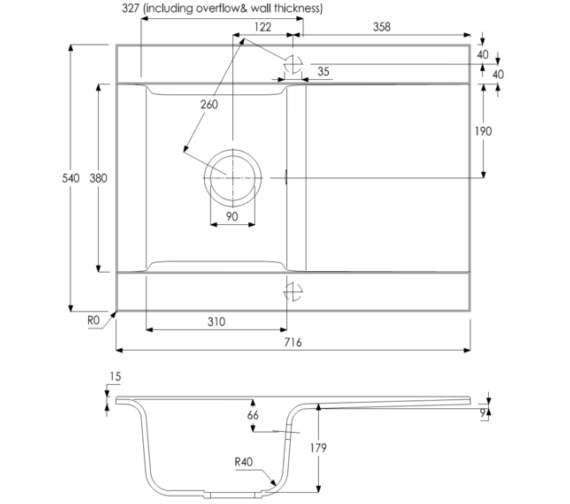 Technical drawing QS-V8265 / AW3101