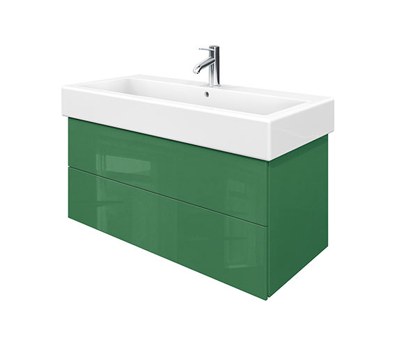 Duravit Delos 2 Drawers Jade High Gloss Unit With Vero 1000mm Basin