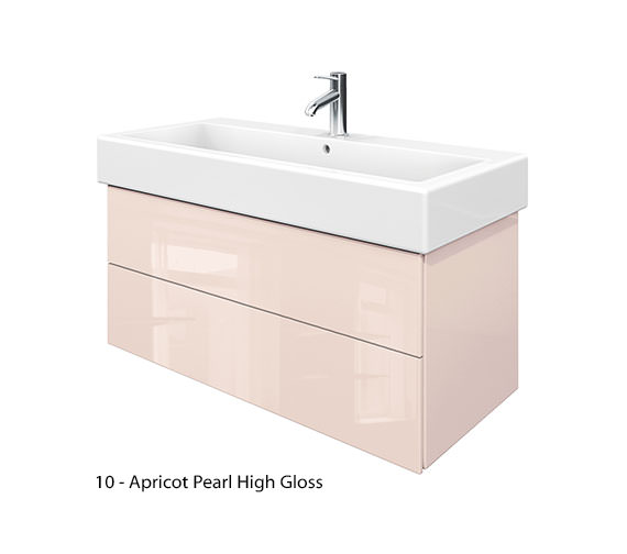 Additional image of Duravit Delos 2 Drawers Jade High Gloss Unit With Vero 1000mm Basin