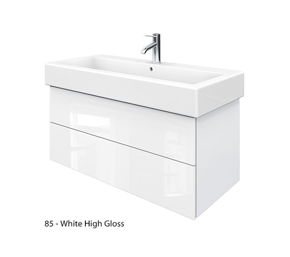 Alternate image of Duravit Delos 2 Drawers Jade High Gloss Unit With Vero 1000mm Basin