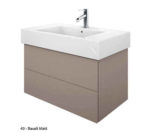 Additional image of Duravit Delos 2 Drawers White Matt Unit With Vero 1250mm Basin