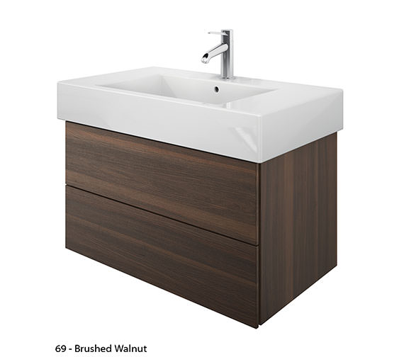 Additional image of Duravit Delos 2 Drawers Brushed Oak Unit With Vero 1250mm Basin