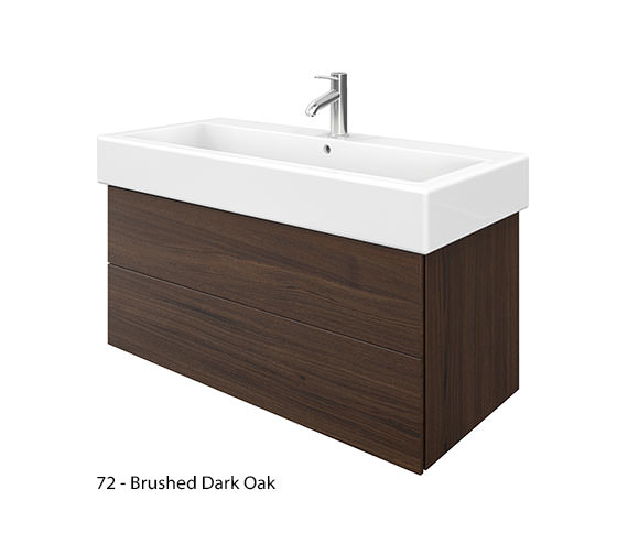 Alternate image of Duravit Delos 2 Drawers Brushed Oak Unit With Vero 1000mm Basin