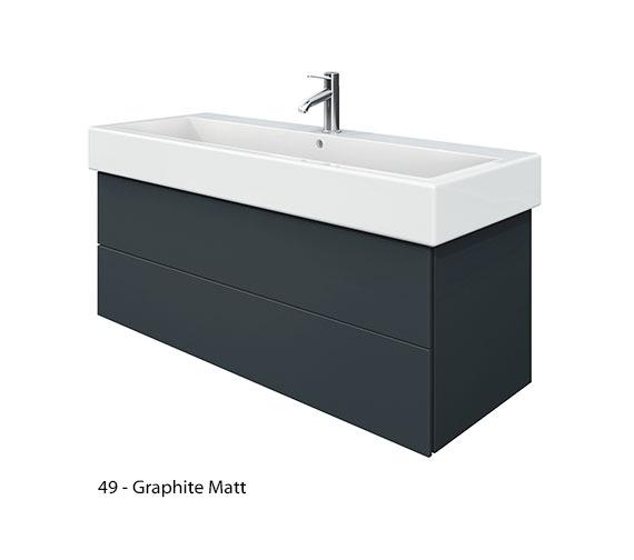 Alternate image of Duravit Delos 2 Drawers White Matt Unit With Vero 1200mm Basin