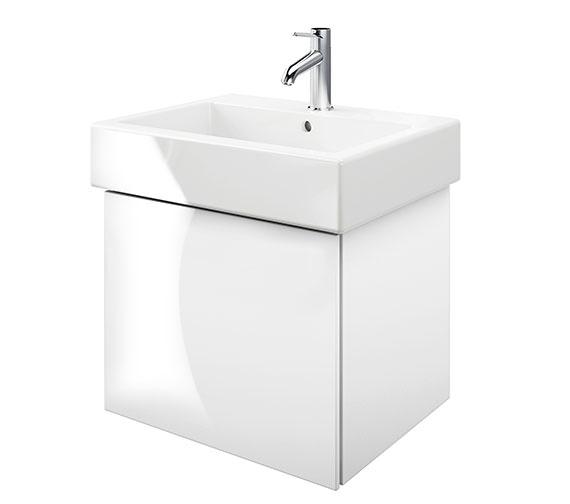 Duravit Delos 1 Compartment White High Gloss Unit With Vero 600mm Basin