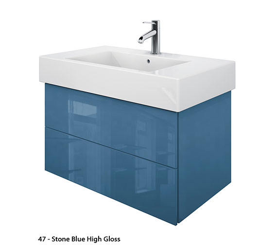 Additional image of Duravit Delos 2 Drawers Jade High Gloss Unit With Vero 1250mm Basin