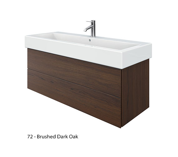 Alternate image of Duravit Delos 2 Drawers Brushed Oak Unit With Vero 1200mm Basin