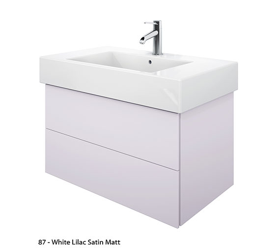 Alternate image of Duravit Delos 2 Drawers Jade High Gloss Unit With Vero 1250mm Basin