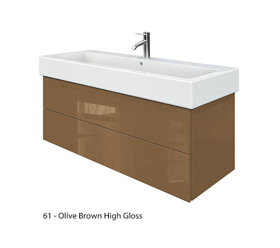 Alternate image of Duravit Delos 2 Drawers Jade High Gloss Unit With Vero 1200mm Basin