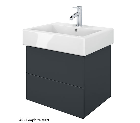 Additional image of Duravit Delos 2 Drawers White Matt Unit With Vero 500mm Basin