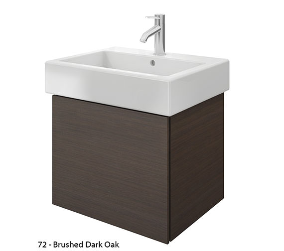 Alternate image of Duravit Delos 1 Compartment Brushed Oak Unit With Vero 600mm Basin