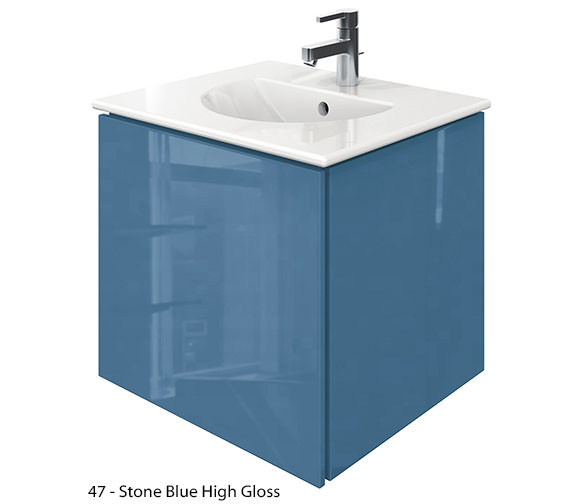 Alternate image of Duravit Delos 1 Compartment Jade Gloss Unit With Darling New 530mm Basin