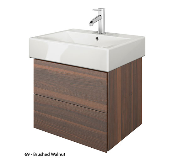 Additional image of Duravit Delos 2 Drawers Brushed Oak Unit With Vero 500mm Basin