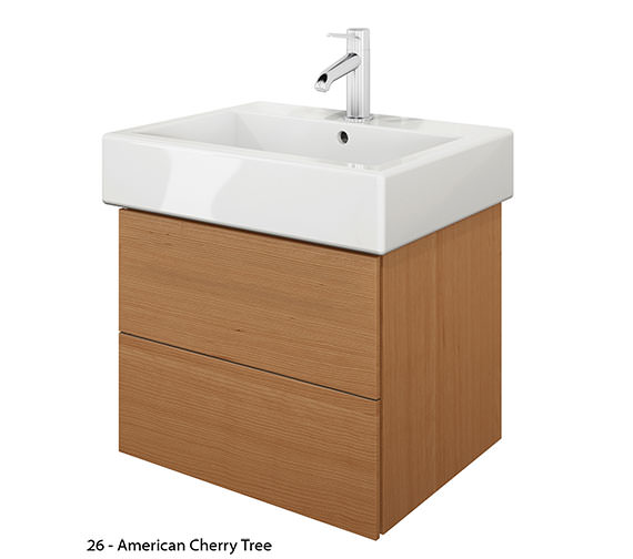 Alternate image of Duravit Delos 2 Drawers Brushed Oak Unit With Vero 500mm Basin