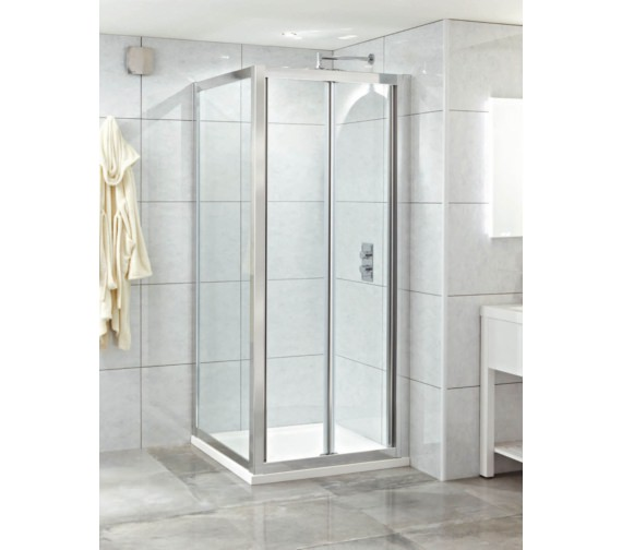 Phoenix Spirit 900mm x 2000mm Clean Glass Bi-Fold Shower Door