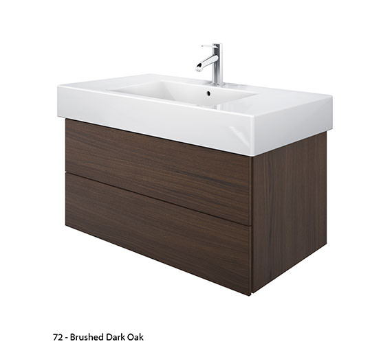 Additional image of Duravit Delos 2 Drawers Brushed Oak Unit With Vero 1050mm Basin