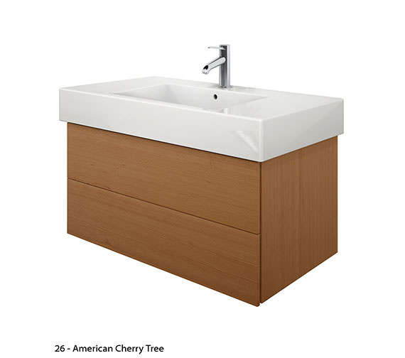 Alternate image of Duravit Delos 2 Drawers Brushed Oak Unit With Vero 1050mm Basin
