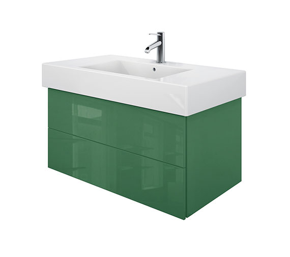 Duravit Delos 2 Drawers Jade High Gloss Unit With Vero 1050mm Basin
